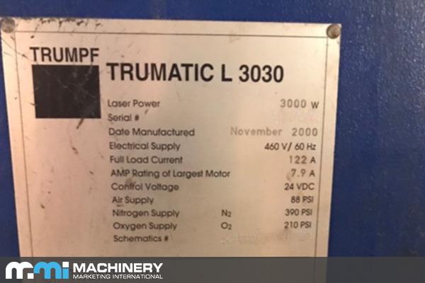 Trumpf Trumatic L3030 2000 - 5